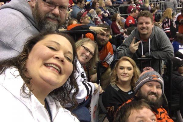 Group at Hockey